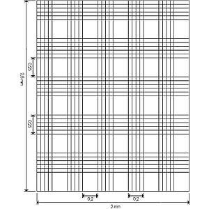 Cellule de numération Malassez - réseau double - sans pinces