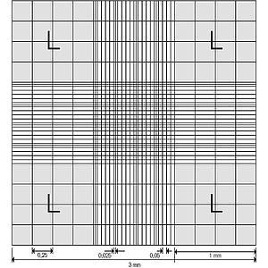 Cellule de numération Neubauer avec pinces