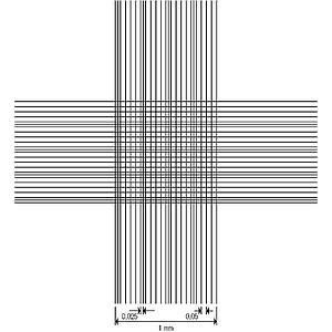 Cellule de numération Thoma - double réseau - avec pinces
