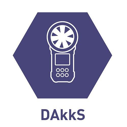 Certificat d'étalonnage en vitesse d'air DAkkS - TIS