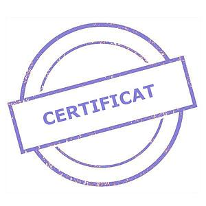 Certificat d'étalonnage usine - Sauter