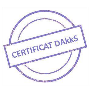 Certificat DAkkS pour jeu de poids étalon 1 g - 100 g - Classe E1