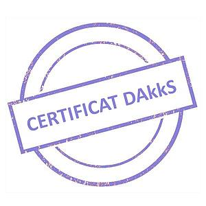 Certificat DAkkS pour jeu de poids étalon 1 g - 100 g - Classe E2
