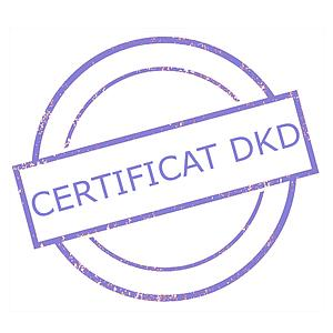 Certificat DAkkS pour jeu de poids étalon 1 mg - 200 g - Classe M1