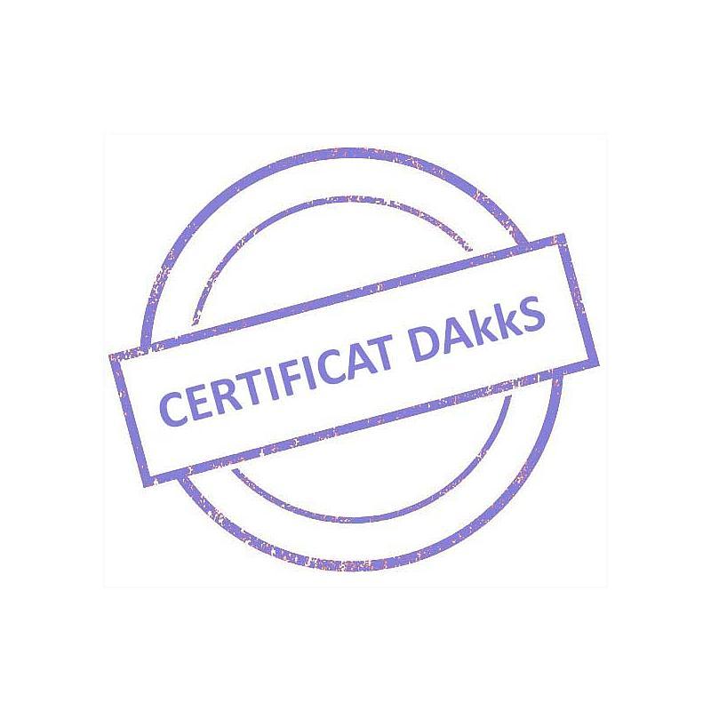 Certificat DAkkS pour jeu de poids étalon 1 mg - 5 kg - Classe F1