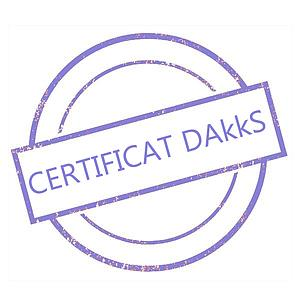 Certificat DAkkS pour poids étalon 1 mg - Classe E1
