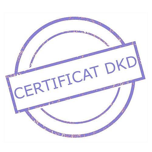 Certificat DAkkS pour poids étalon 1 mg - Classe F1