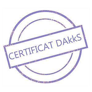Certificat DAkkS pour poids étalon 100 mg - Classe E2