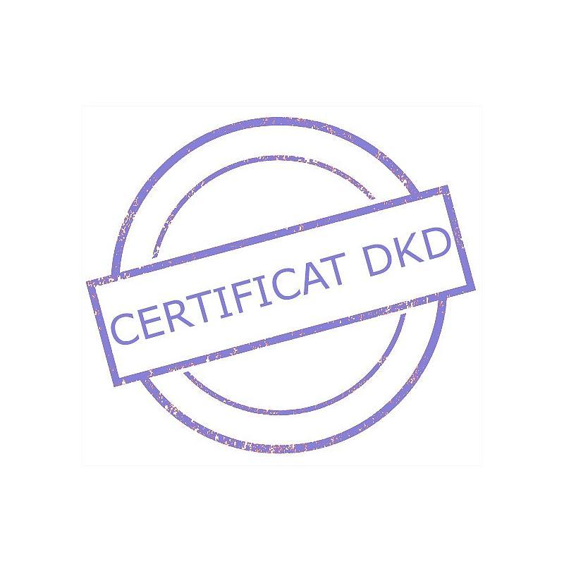 Certificat DAkkS pour poids étalon 100 mg - Classe F1