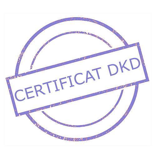 Certificat DAkkS pour poids étalon 2 g - Classe F2
