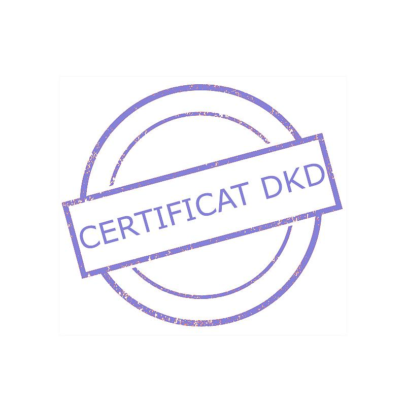 Certificat DAkkS pour poids étalon 2 g - Classe M2