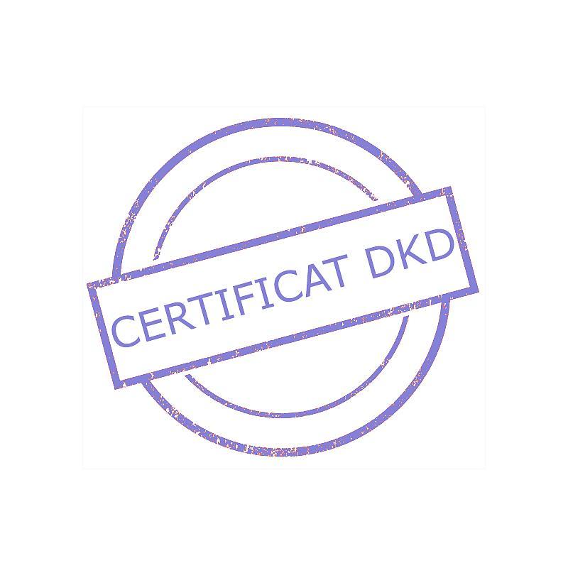 Certificat DAkkS pour poids étalon 2 mg - Classe F2