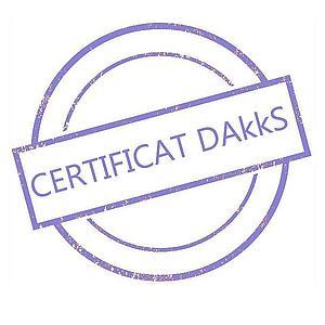 Certificat DAkkS pour poids étalon 500 g - Classe E2