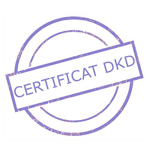 Certificat DAkkS pour poids étalon 500 g - Classe F2