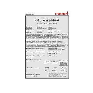 Certificat de calibrage d'usine pour températures et une humidité données - Pour enceintes ICH  - Memmert