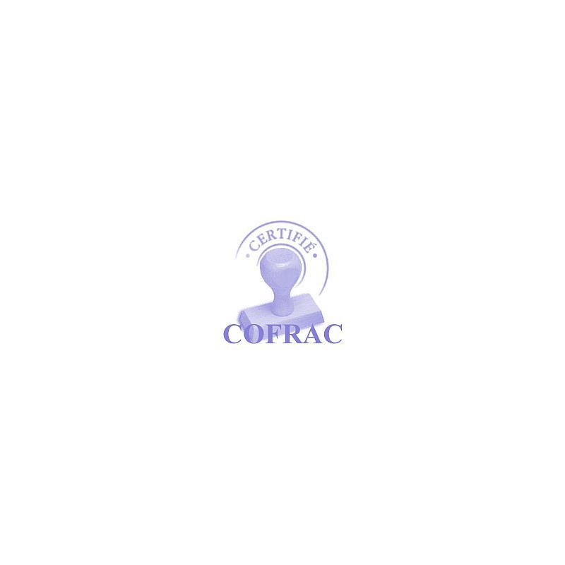 Certificat d'étalonnage étuves à vide