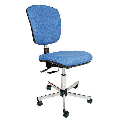 Chaise asynchrone vinyle bleu à roulettes - Kango
