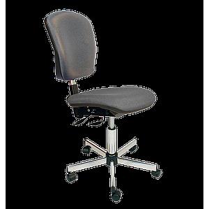 Chaise asynchrone vinyle gris à roulettes - Kango