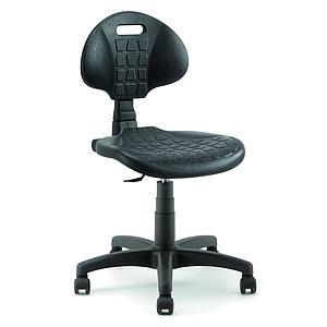 Chaise avec roulettes pivotantes libres