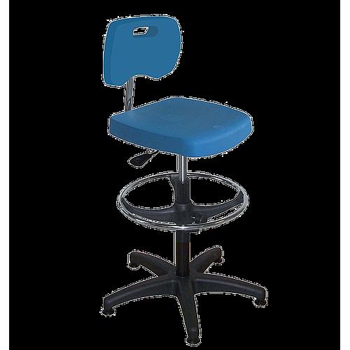 Chaise bleue polyuréthane confort avec repose-pieds - Kango