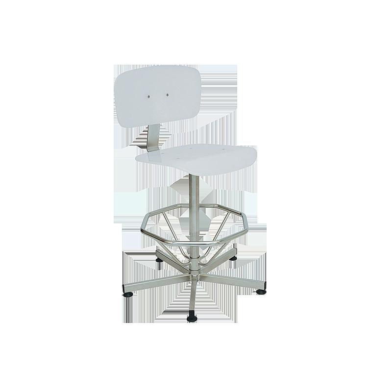 Chaise inox / V-Korr avec repose-pieds - Kango
