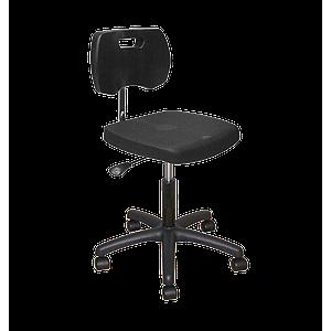 Chaise noire polyuréthane confort avec roulettes - Kango