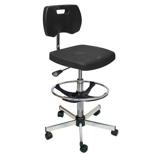 Chaise polyurethane confort avec roulettes - Kango