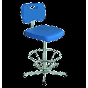 Chaise polyuréthane / inox avec repose-pieds - Kango