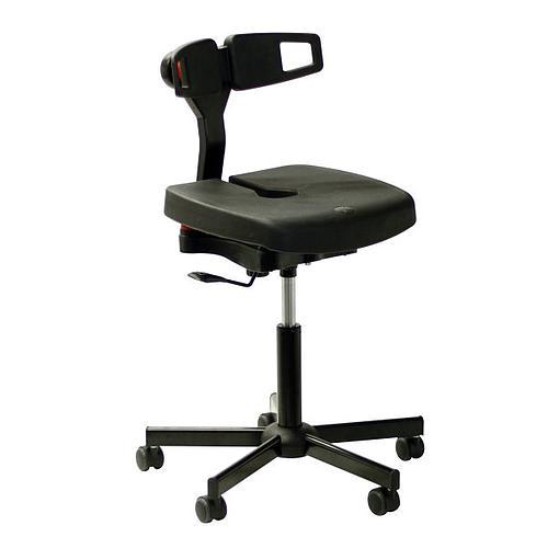 Chaise polyuréthane noire Koncept - Kango