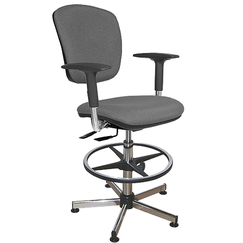 Chaise vinyle asynchrone avec repose-pieds et accoudoirs - Kango