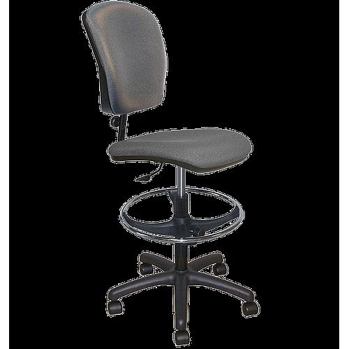 Chaise vinyle large ajustable avec repose-pieds et roulettes - Kango