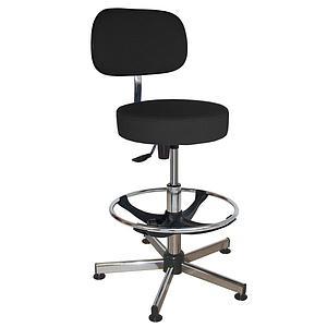 Chaise vinyle noir à patins articulés - Kango