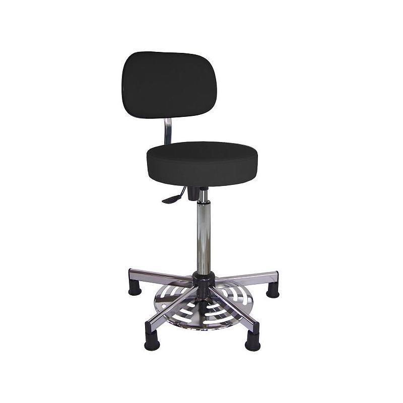 Chaise vinyle noir à patins - Kango