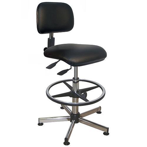 Chaise vinyle noire asynchrone à patins - Kango