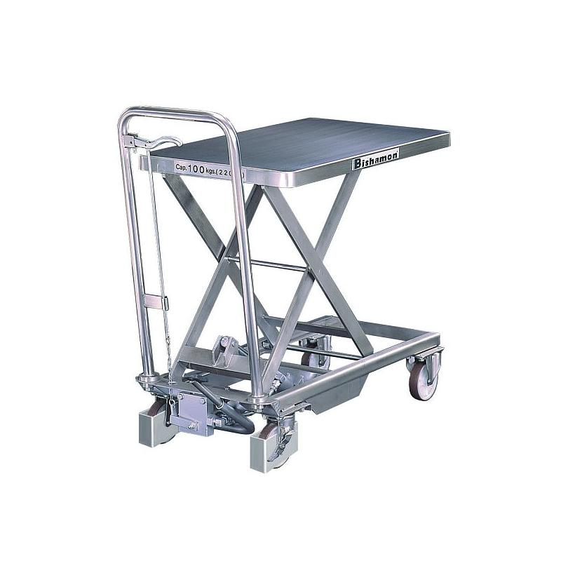 Chariot élévateur mobile inox - 100 kg