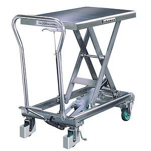 Chariot élévateur mobile inox - 200 kg