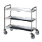 Chariot inox 3 plateaux avec roues antitraces - Bano