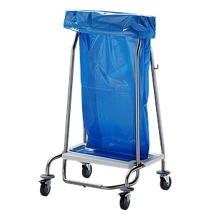 Chariot poubelle inox 4 roues - Bano