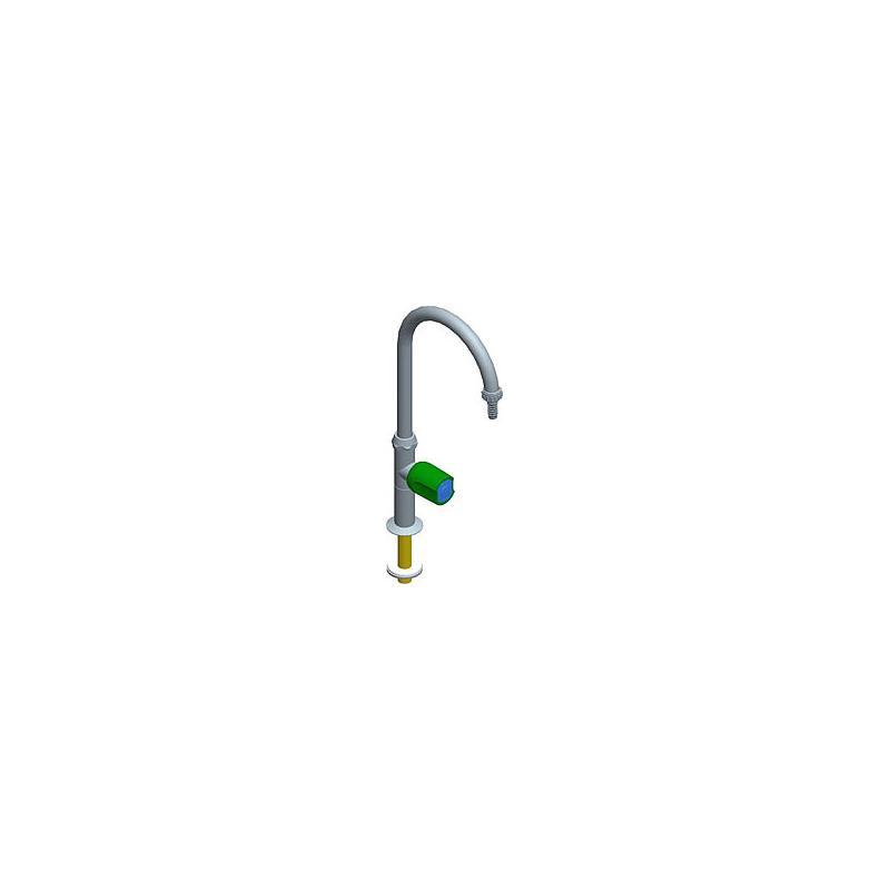 Colonne col de cygne mobile à 1 robinet, profondeur de bec = 150 mm