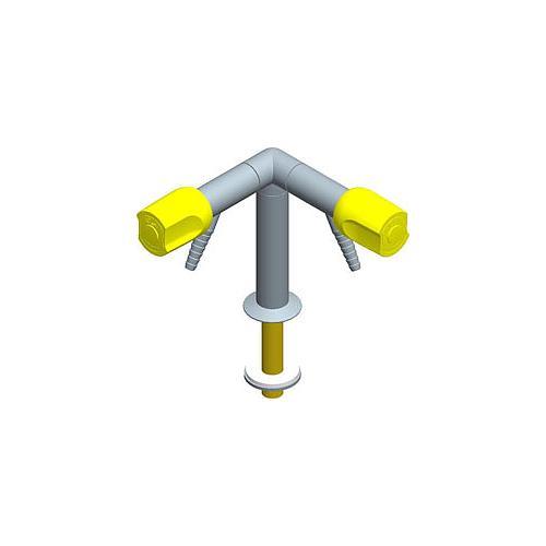 Colonne en V avec déclic de sécurité poignées frontales embout 45°