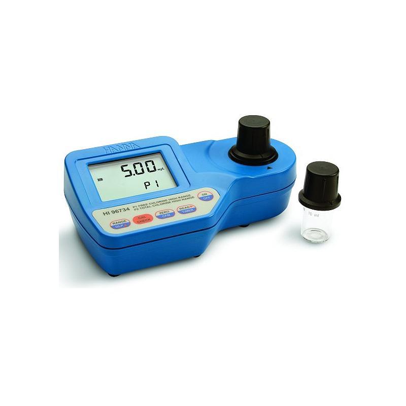 Colorimètre portable - Chlore libre et total - Gamme large - Haute précision - HI 96734 - Hanna