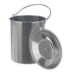 Conteneur inox à anse avec couvercle - 10 litres