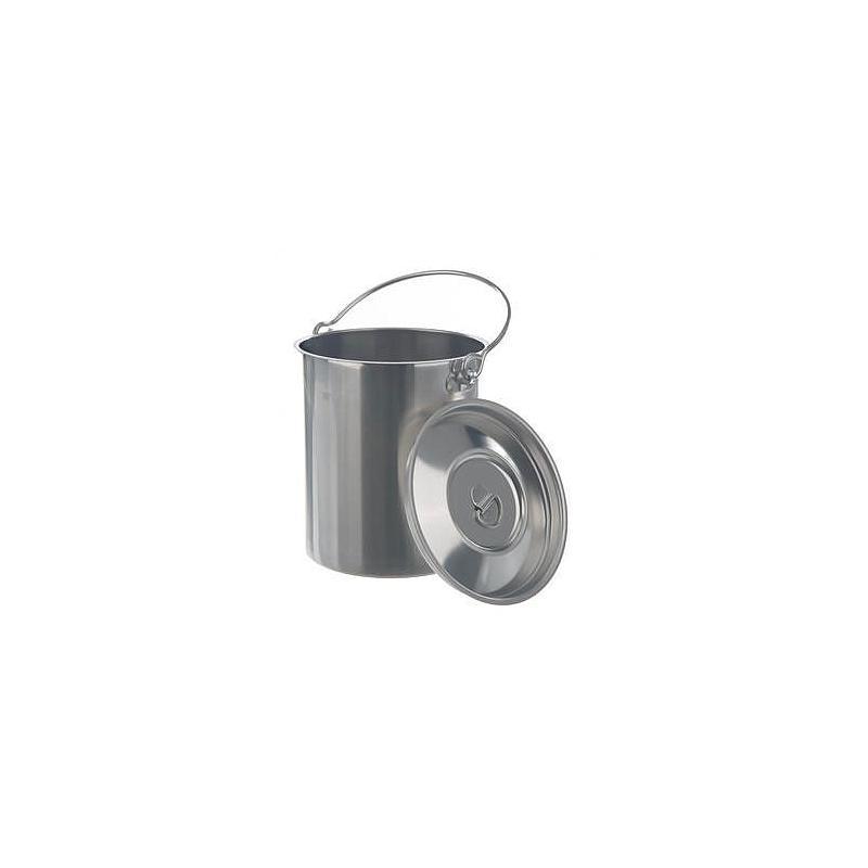 Conteneur inox à anse avec couvercle - 5 litres