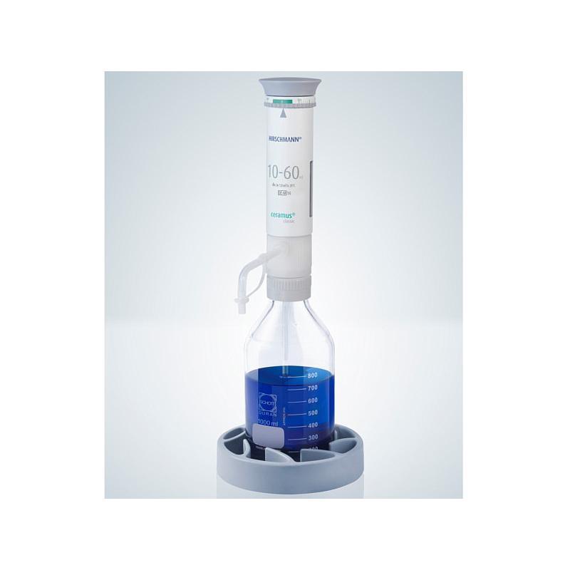 Distributeur Ceramus classic pour dosage manuel - 10.0 à 60.0 ml - Hirschmann