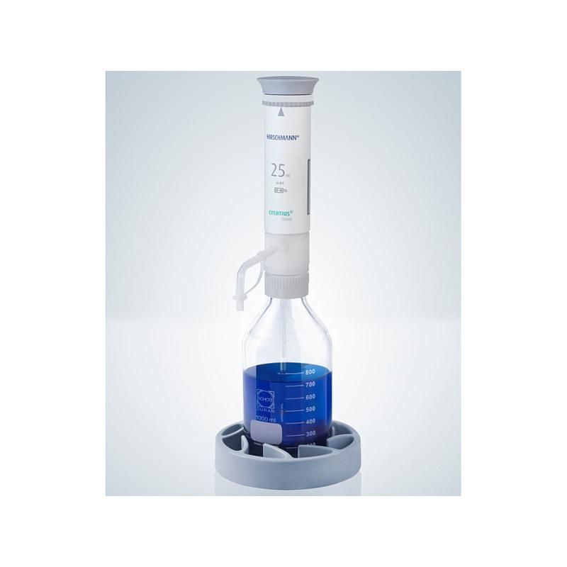 Distributeur Ceramus classic pour dosage manuel - 25.0 ml fixe - Hirschmann