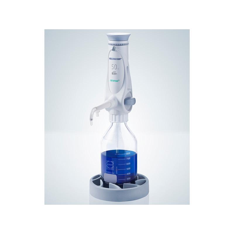 Distributeur Ceramus pour dosage manuel - 50.0 ml fixe - Hirschmann