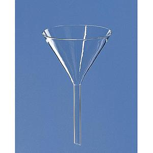 Entonnoir 60° en verre  Ø 70 mm - Tige courte - BRAND