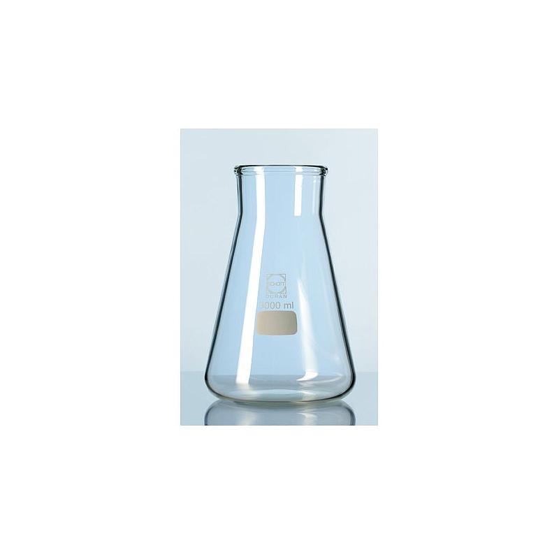 Erlenmeyer avec col large - usage intensif - Verre haute qualité - 500 ml - Duran