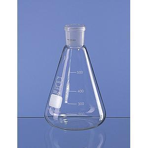 Erlenmeyer col rodé 19/26 en verre Duran - 50 ml - Lot de 10 - Lenz