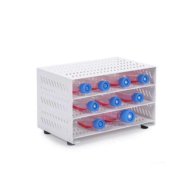 Étagère avec plateaux pour fioles de culture cellulaire - Don Whitley